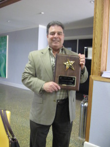 Joe Ozoniak with Star Council Award